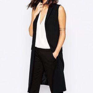 NEW Trouve Black Sleeveless Button Front Blazer